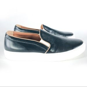 Doucal's Slip-on Leather Loafers Hand Made Italy